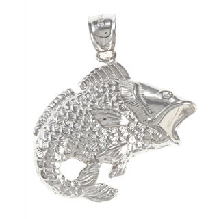 Sterling Silver Bass Charm
