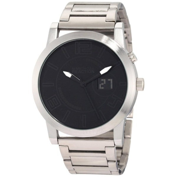 Kenneth Cole Men's Reaction Silver Silverplated Stainless-Steel Analog Quartz Watch