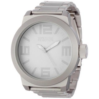 Shop Kenneth Cole Men S Reaction Grey Silverplated