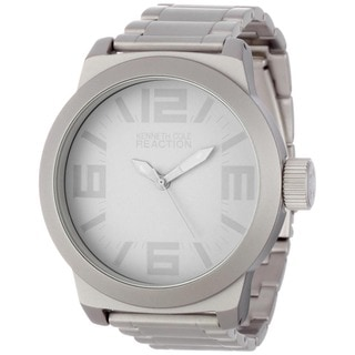 Kenneth Cole Men's Reaction Grey Silverplated Stainless Steel Analog Quartz Watch