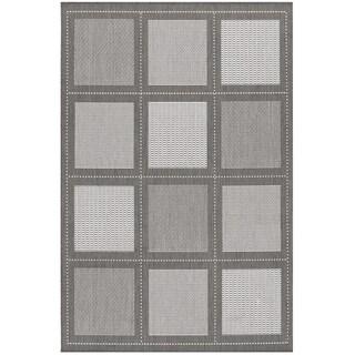 Recife Summit Grey/White Rug (5'3 x 7'6)