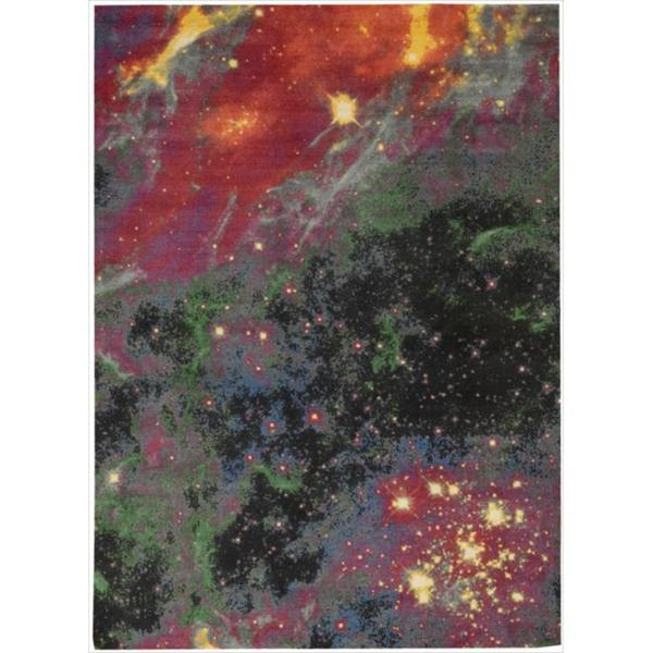 Altered State Fiery Galactic Multicolored Area Rug (8' x 10')