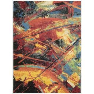 Alter State Edgy Abstract Multicolored Rug (4' x 6')