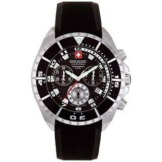 Swiss Military Hanowa Men's Sealander Black Rubber Swiss Quartz Watch