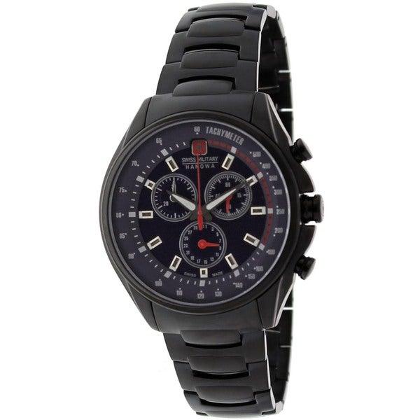 Swiss Military Hanowa Men's Racing Black Stainless Steel Quartz Watch