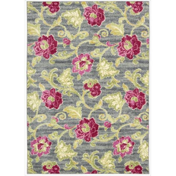 Waverly Aura of Flora Refresh Jazzberry Area Rug by Nourison (5'3 x 7'5)