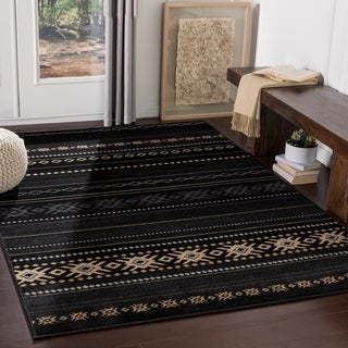 Link to The Curated Nomad Zanjero Southwestern Aztec Area Rug Similar Items in Rugs