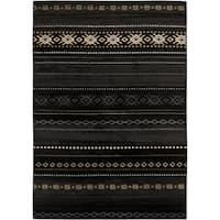 Pine Canopy Tongass Black/ Tan Southwestern Aztec Area Rug (5'3 x 7'6) - 5'3 x 7'6