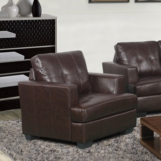 Nova Brown Bonded Leather Upholstered Chair