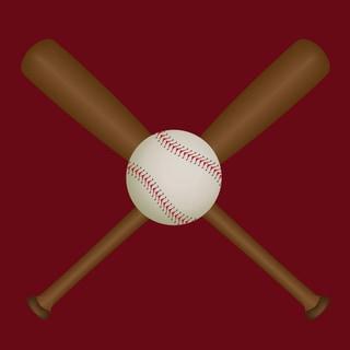 'Baseball & Bats Print' Print Art