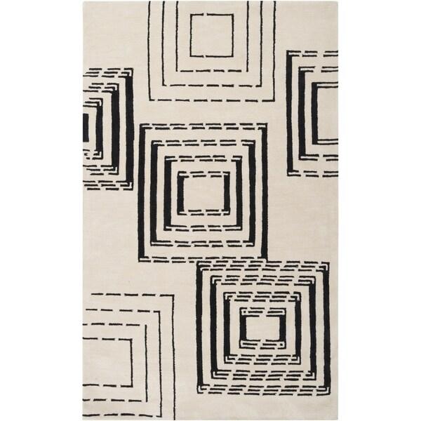 Hand-tufted Niangua Ivory Geometric Pattern Rug (8' x 10'6)
