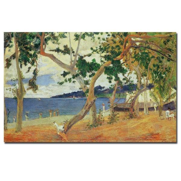 Paul Gaugin, 'By the Seashore Martinique 1887' Canvas Art