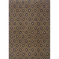 Indoor Grey and Brown Geometric Area Rug - 1'10 x 7'6