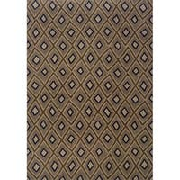 Indoor Grey and Brown Geometric Area Rug - 3'10 x 5'5