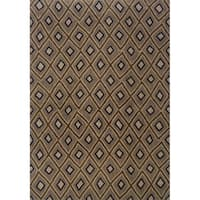 "Indoor Grey and Brown Geometric Area Rug - 6'7"" x 9'6"""