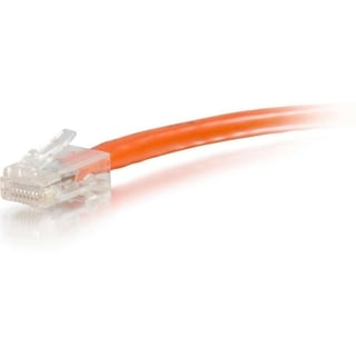 C2G 25ft Cat6 Non-Booted Unshielded (UTP) Network Patch Cable - Orang