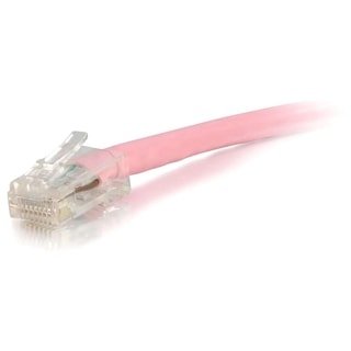 1ft Cat5e Non-Booted Unshielded (UTP) Network Patch Cable - Pink