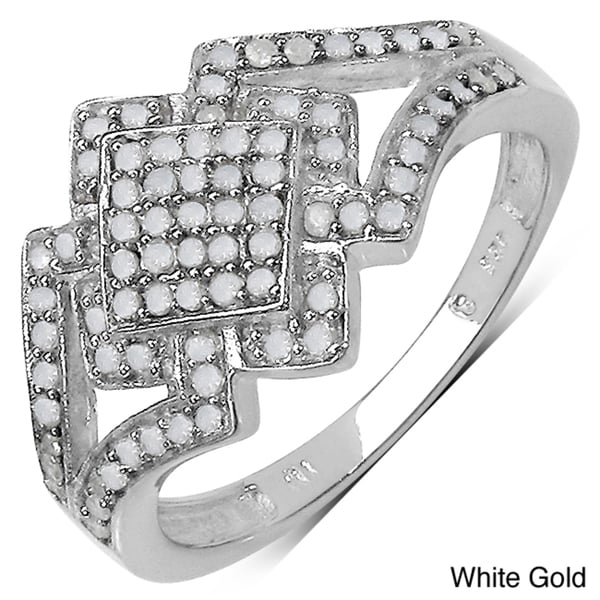 Malaika 14k Gold over Sterling Silver 2/5ct TDW Diamond Ring (I-J, I3)