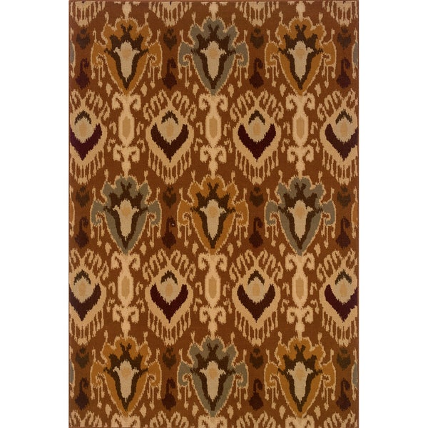Brown/ Gold Area Rug (5'3 x 7'6)