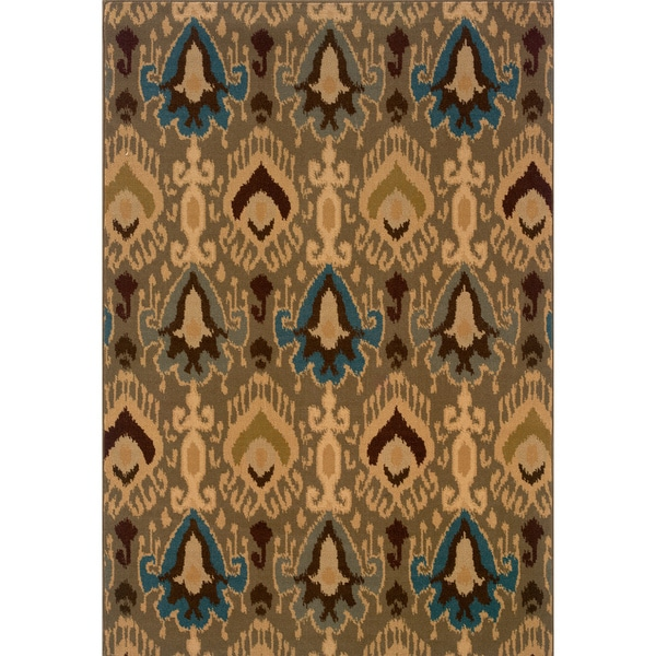 Blue/ Gold Area Rug (1'10 x 7'6)