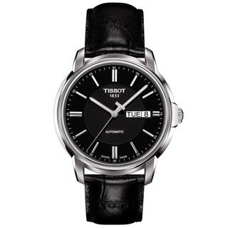 Tissot Men's 'Automatic III' Black Dial Watch