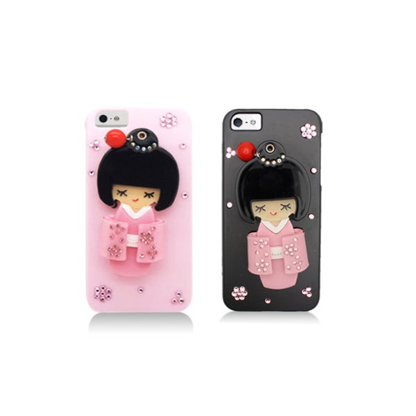 Apple iPhone 5 Sparkling Kimono Girl Compact Mirror Designer Case