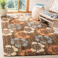 Safavieh Handmade Blossom Brown Wool Rug - 2'3 x 8'