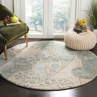 Safavieh Handmade Bella Sage Wool and Viscose Rug - 5' x 5' round