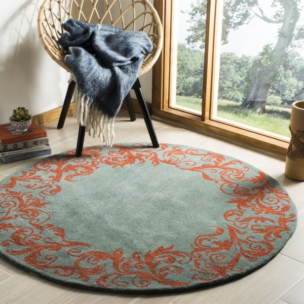 Safavieh Handmade Bella Blue Wool and Viscose Rug (5' Round)