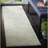 Safavieh Handmade Bella Silver Wool and Viscose Rug - 2'3 x 6'
