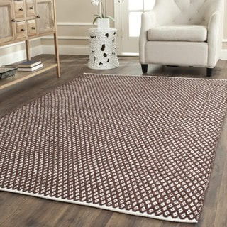 Safavieh Handmade Boston Flatweave Brown Cotton Rug (4' Square)
