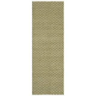 Safavieh Hand-loomed Moroccan Olive Cotton Rug (2'3 x 7')