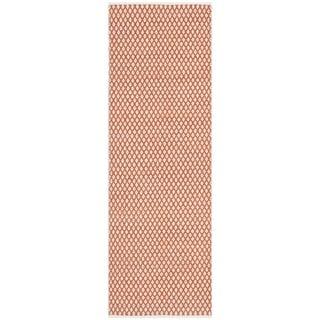Safavieh Handmade Boston Flatweave Orange Cotton Rug (2'3 x 7')