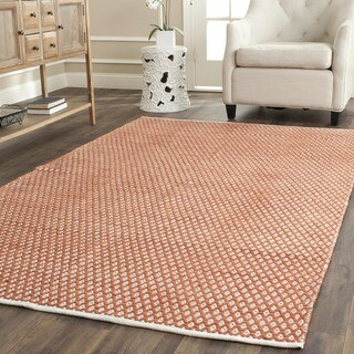 Safavieh Handmade Boston Flatweave Orange Cotton Rug (4' Square)