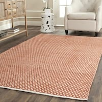 Safavieh Handmade Boston Flatweave Orange Cotton Rug - 4' Square