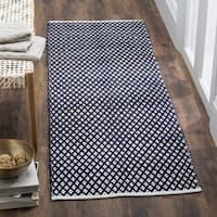 "Safavieh Handmade Boston Flatweave Navy Blue Cotton Rug - 2'3"" x 7'"