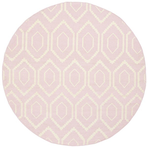 Shop Safavieh Hand-woven Moroccan Dhurrie Pink Wool Rug