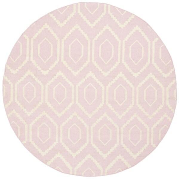 Shop Safavieh Hand-woven Moroccan Reversible Dhurrie Pink