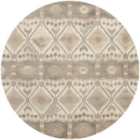 Safavieh Handmade Wyndham Natural New Zealand Wool Area Rug - 7' Round