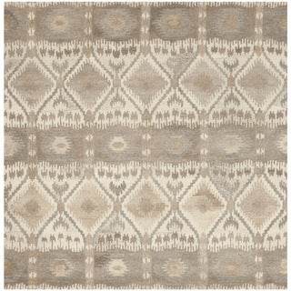 Safavieh Handmade Wyndham Natural New Zealand Wool Rug (7' Square)
