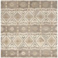 Safavieh Handmade Wyndham Natural New Zealand Wool Rug - 7' Square