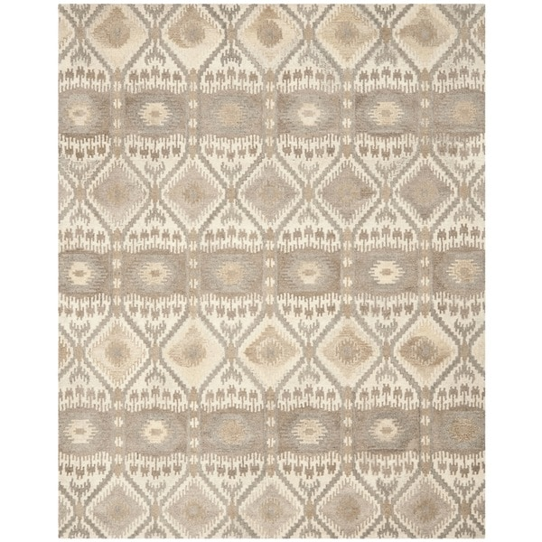 Safavieh Handmade Wyndham Natural New Zealand Wool Rug - 8' x 10'