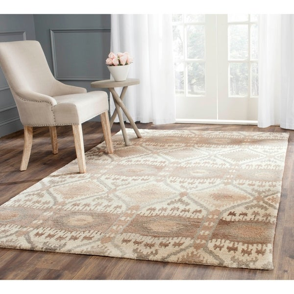 Safavieh Handmade Wyndham Natural New Zealand Wool Rug - 9' x 12'