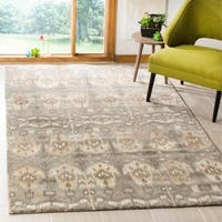"Safavieh Handmade Wyndham Natural Geometric New Zealand Wool Rug (2'3 x 7') - 2'3"" x 7'"