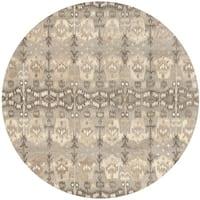 Safavieh Handmade Wyndham Natural New Zealand Wool Rug - 7' Round