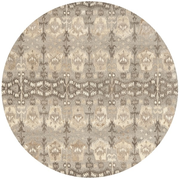 Safavieh Handmade Wyndham Natural New Zealand Wool Rug - 7' Round