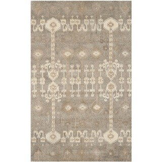 Safavieh Handmade Wyndham Natural New Zealand Wool Rug (5' x 8')