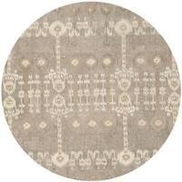 Safavieh Handmade Wyndham Contemporary Natural New Zealand Wool Rug - 7' x 7' Round