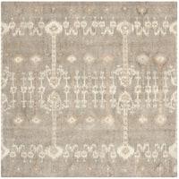 Safavieh Handmade Wyndham Natural New Zealand Wool Rug - 7' x 7' Square