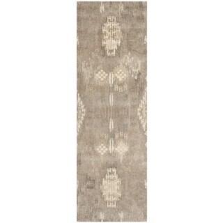 Safavieh Handmade Wyndham Natural New Zealand Wool Rug (2'3 x 7')